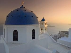 """Church Domes, Oia, Santorini, Greece"""